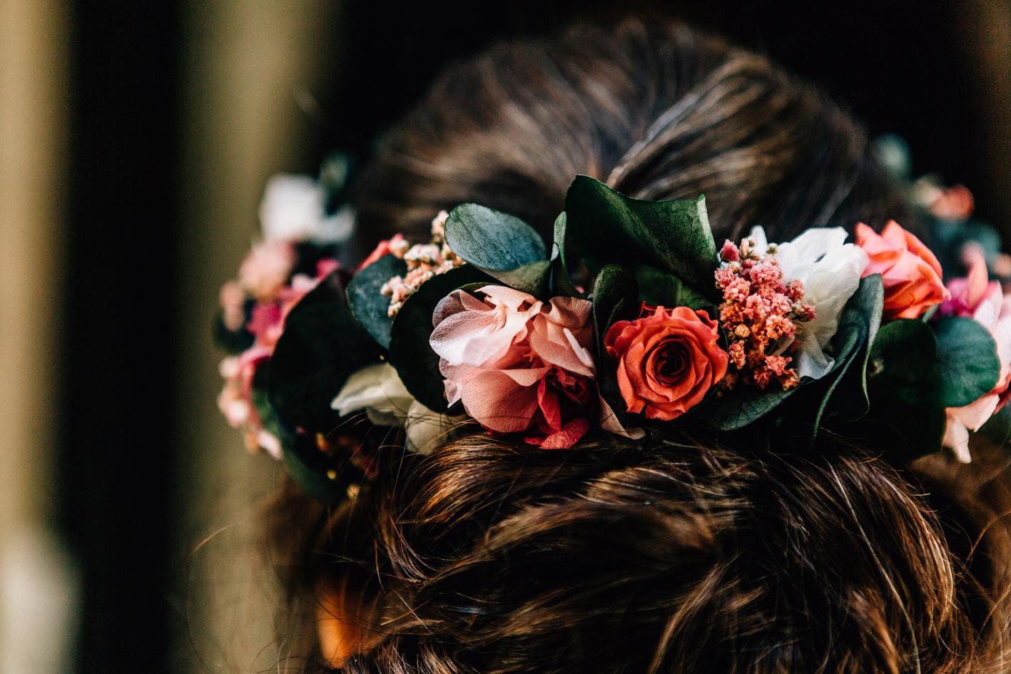 Une couronne de fleurs pour votre mariage