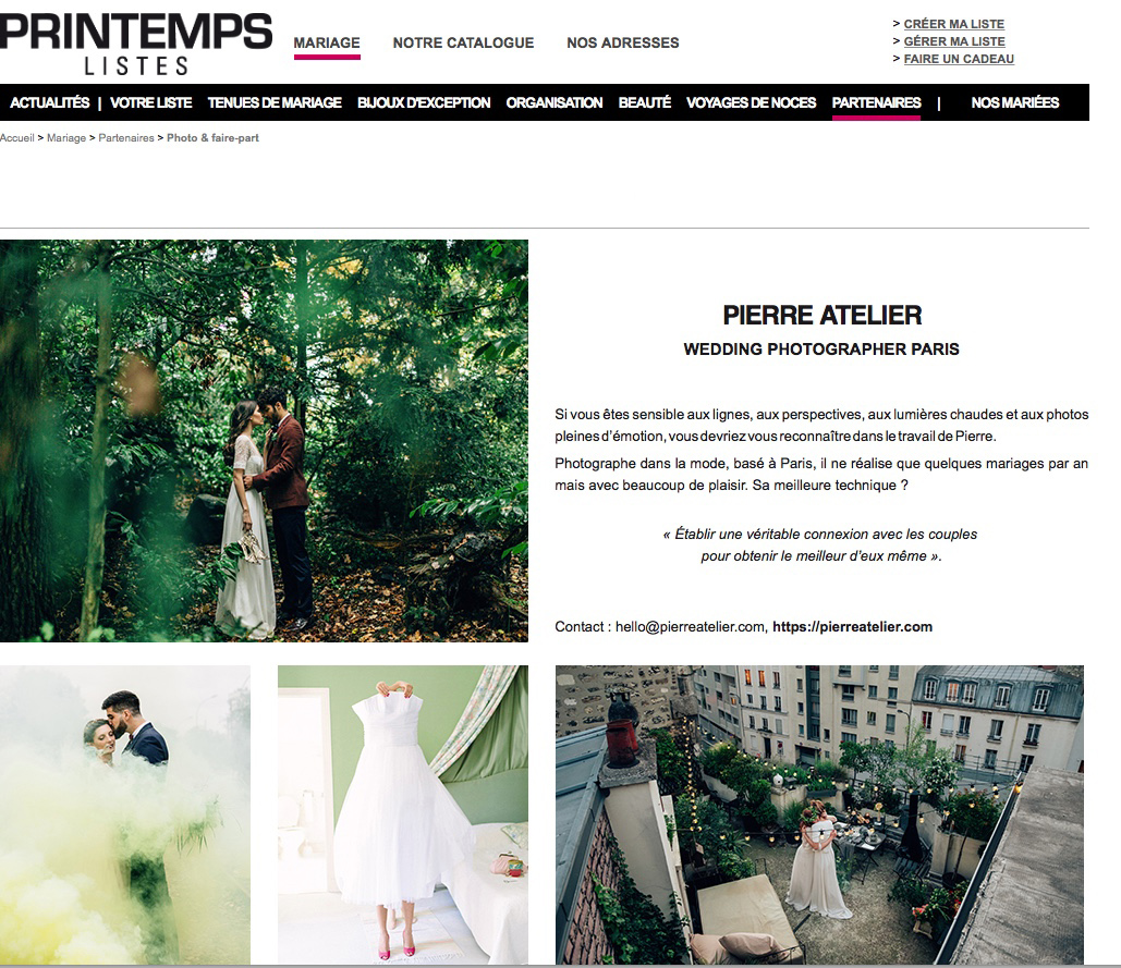 le printemps mariage pierre atelier photographe