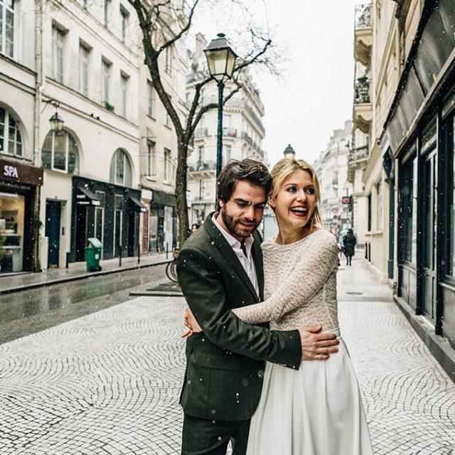 un mariage en hiver paris